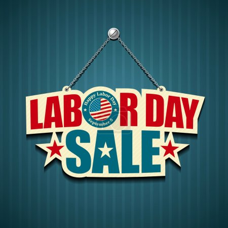 Labor day american. text signs.