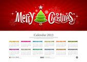 Calendar 2013 Merry christmas background