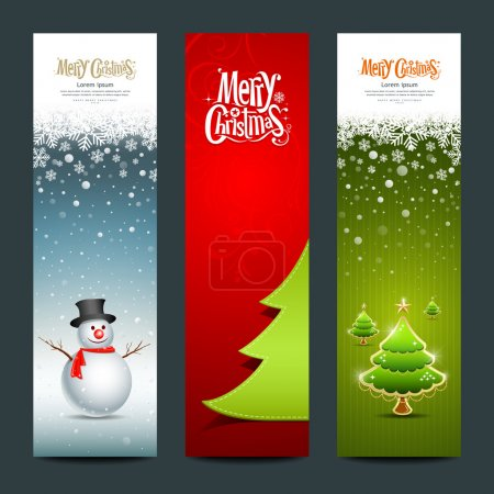 Merry Christmas, banner design vertical background