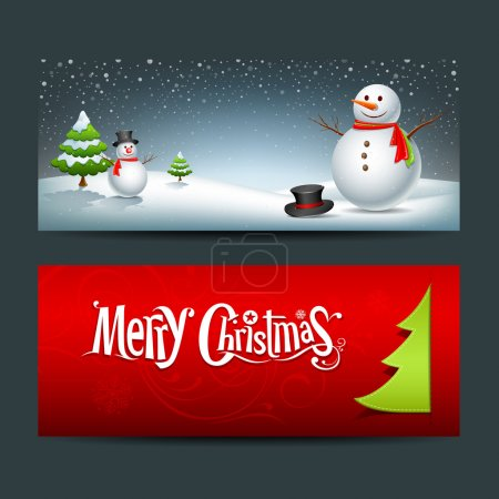 Merry Christmas banner design background