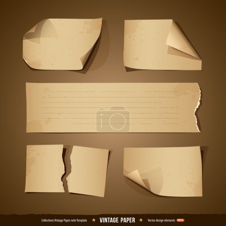 Vintage paper collections empty template