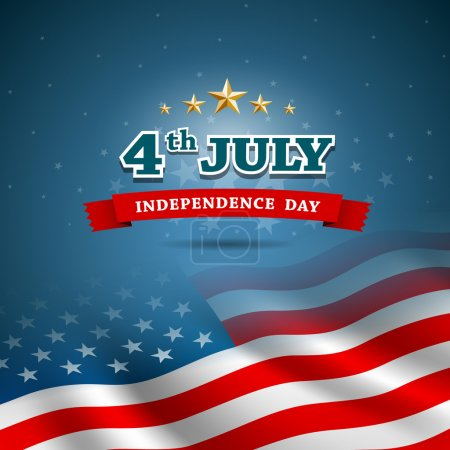 Independence day Flag of American design background