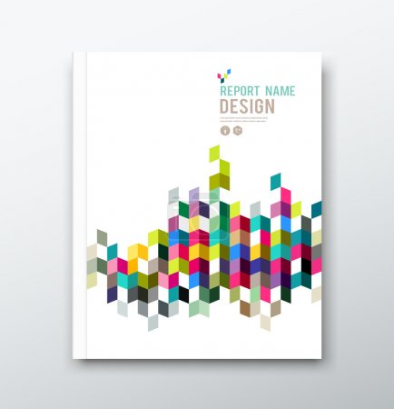 Annual report and brochure colorful geometric design