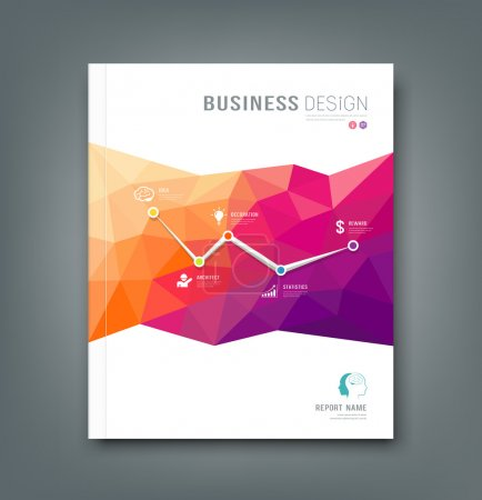 Magazine geometric shapes info-graphic for business
