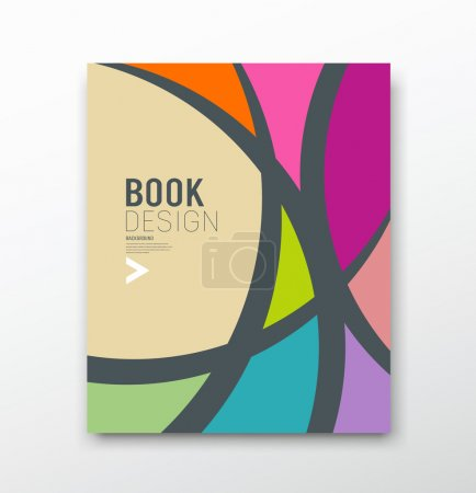 Illustration for Cover Magazine Abstract colorful curve design background, vector illustration - Royalty Free Image