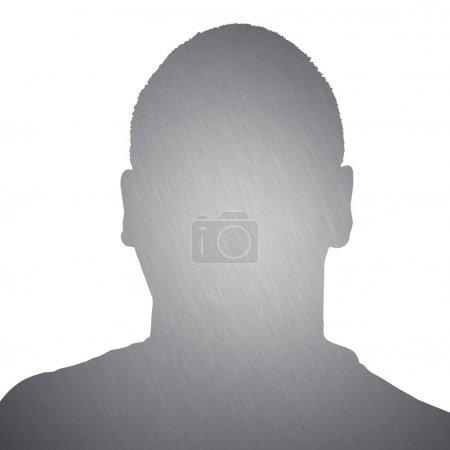 Brushed Metal Man Silhouette