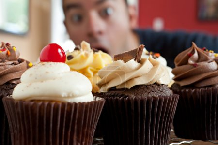 Man Wants to Eat Cupcakes
