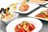 Různé thajské potravin