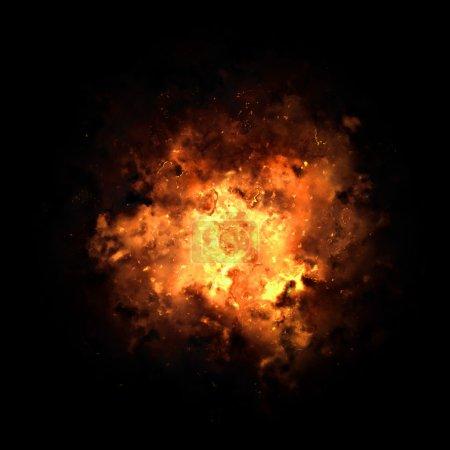Rafale explosion ardente