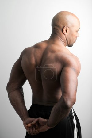 Man with Muscular Back