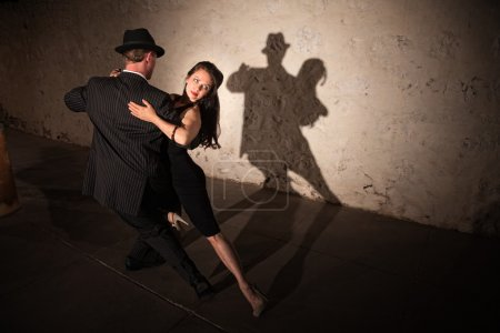 Pretty Tango Dancer with Partner