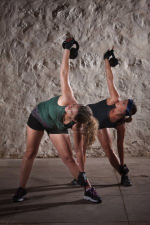 Ladies Doing Boot Camp Workout