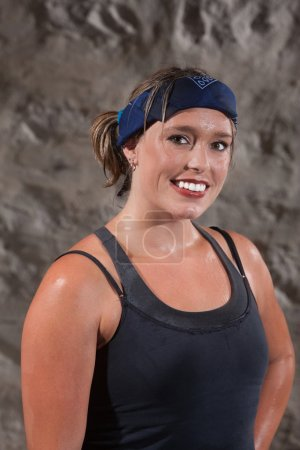 Smiling Physically Fit Woman