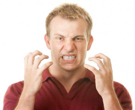 Angry Man Clenching Teeth