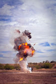 Kühlschrank explodierte um Film pyrotechnische team