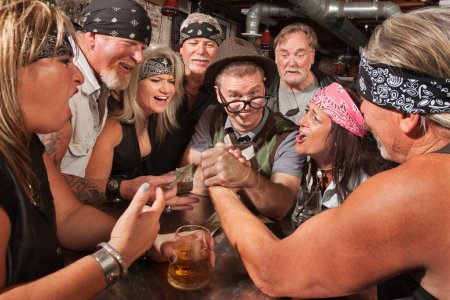 Nerd Wins Arm Wrestling Match