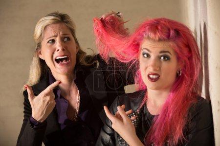 Lady Shocked About Hairdo