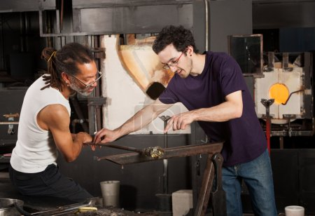 Two Glass Artisans at Work