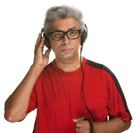 Serious Man Listening