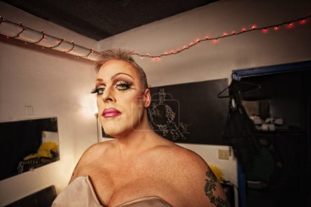 Drag Queen in Dressing Room