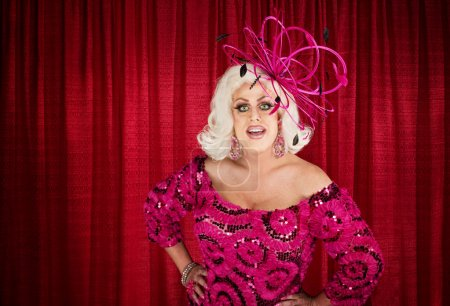 Eccentric Drag Queen with Hands on Hip