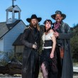 Old West Characters Pose Infront of Church...
