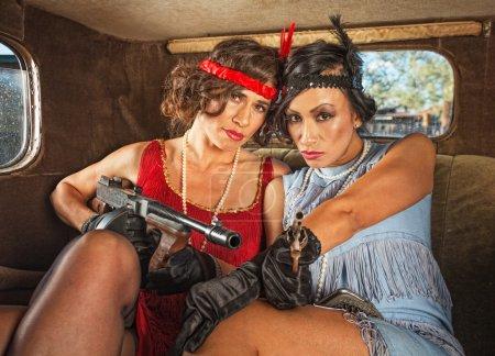 Retro Gangster Women in Car