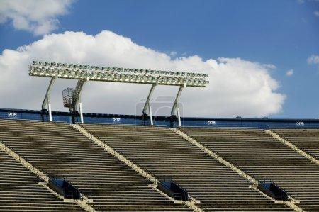 Stadium Lights and a Cloud