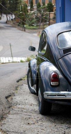 Old car on a steep street