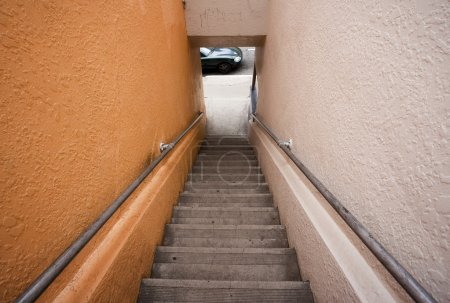 Long stairway to the street