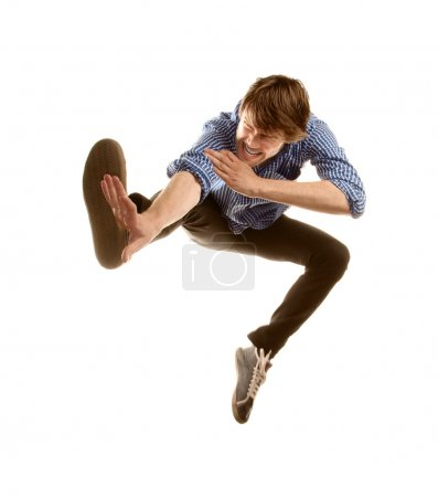 Tall Hipster Jumping
