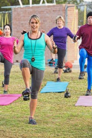 Smiling Workout Instructor