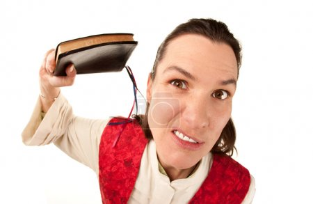 Funny Female Pastor with Bible
