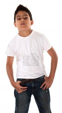 Young Boy Showing Attitude
