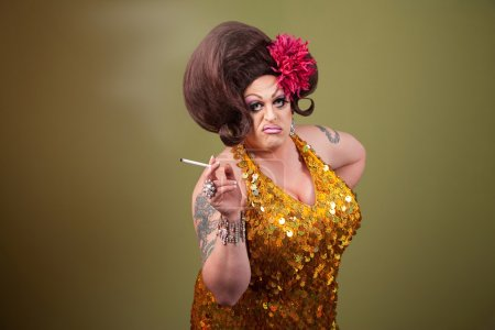 Drag Queen Smoking