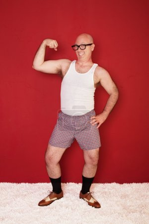 Funny Muscular Man