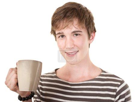 Smiling Teen With Mug