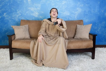 Laughing Man With Remote Control