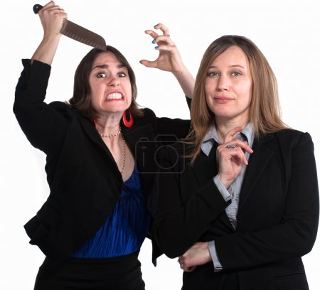 Back Stabbing Businesswomen