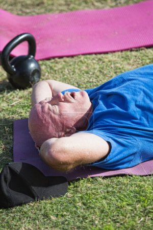 Exhausted Man Exercising