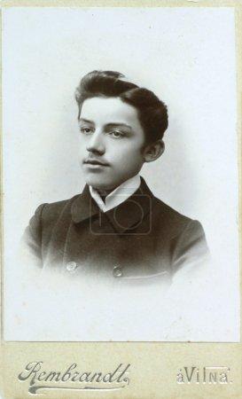 VILNIUS, RUSSIAN EMPIRE - CIRCA 1910: vintage photo of young elegant man.