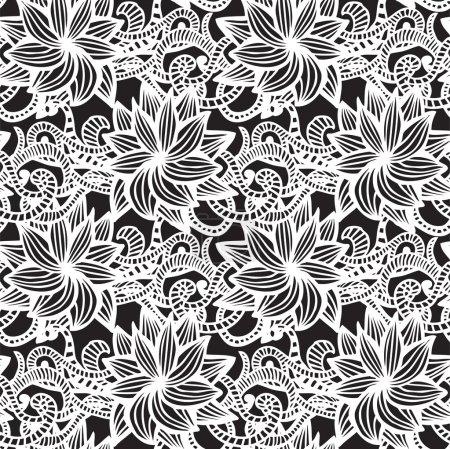 Hand-drawn seamless pattern