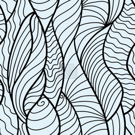 Lace vector fabric seamless pattern with lines and waves