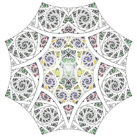 Photo pour Abstrait fleur fractale géométrie art fond modèle - image libre de droit