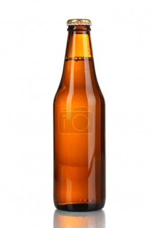 Photo for Bottle of beer isolated on white - Royalty Free Image