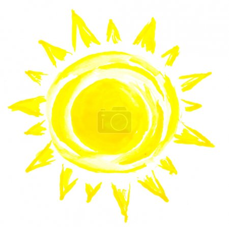 Photo for Sun painting on white background - Royalty Free Image