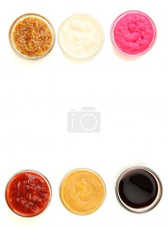 Photo for Various sauces isolated on white - Royalty Free Image