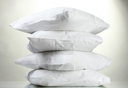 Photo for Pillows, on grey background - Royalty Free Image