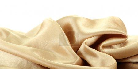 Photo pour Beau drap en soie, isolé sur blanc - image libre de droit