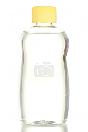 Baby oil isolated on white